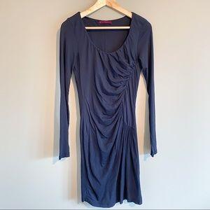 VELVET BY GRAHAM& SPENCER Navy Jersey Mini Dress